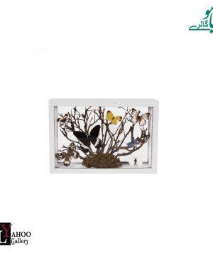 تابلو پروانه مستطیل متوسط سفید