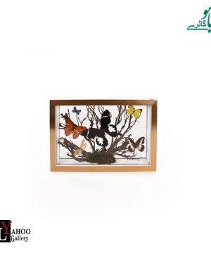 تابلو پروانه مستطیل متوسط طلایی