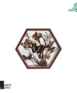تابلو پروانه 6ضلعی متوسط قهوه ای