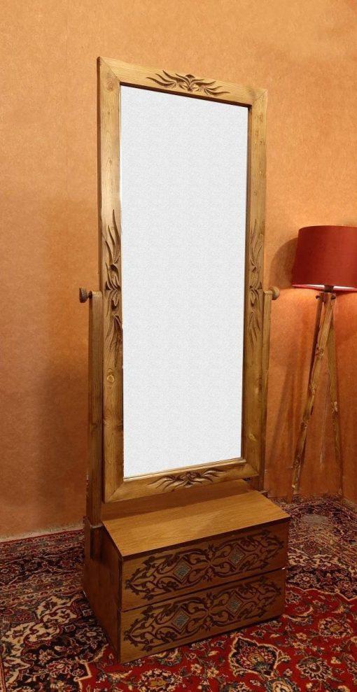 آینه دو کشو منبت