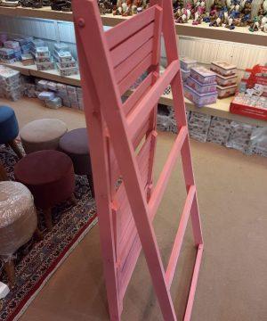 نردبان چوبی 4 طبقه پهن رنگی