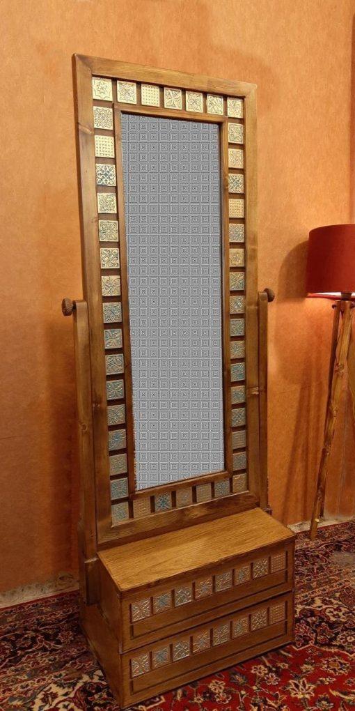آینه دوکشو طلایی