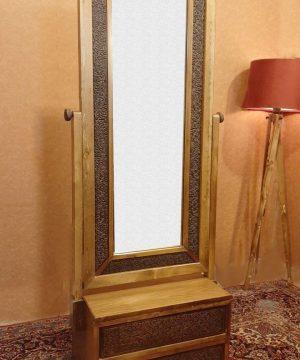 آینه دو کشو گل نقش