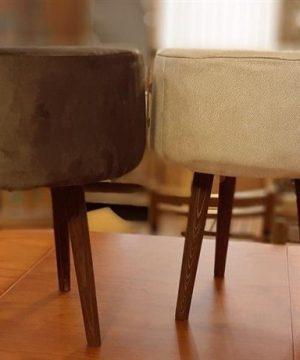 صندلی پاف سه پایه خراطی بزرگ