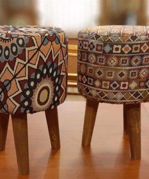 صندلی پاف سه پایه پارچه ای کوچک