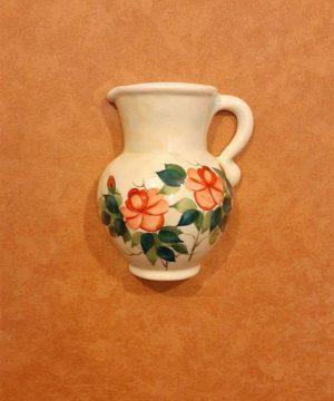 گلدان نیم پارچ کوچک تک دسته