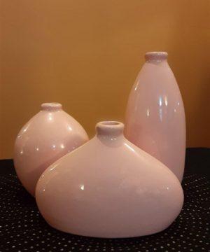 بطری سه تایی لعابی صورتی