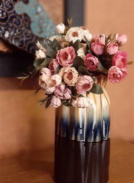 گلدان بزرگ استوانه پلیسه