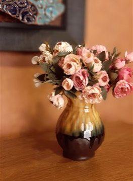 گلدان متوسط لبه چین پلیسه