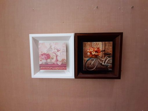 تابلو سه عکس عمودی سفيد