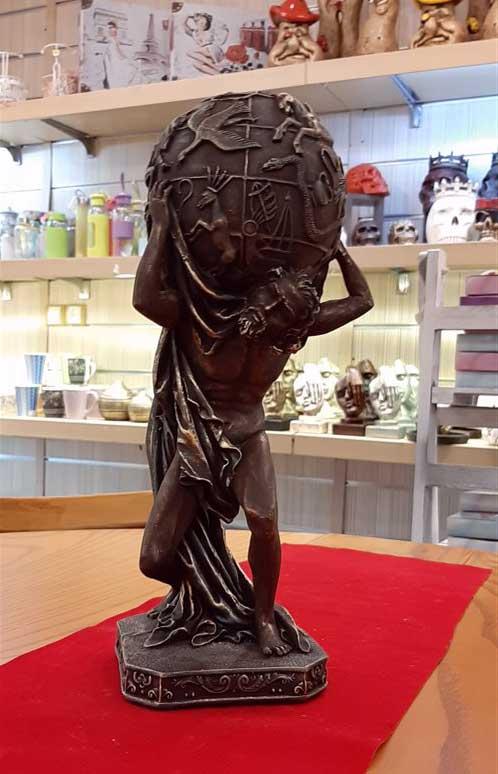 مجسمه مرد طالع بین ۲ مسی برنز