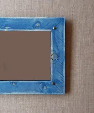 آینه چوبی مربع نوستالوژیک