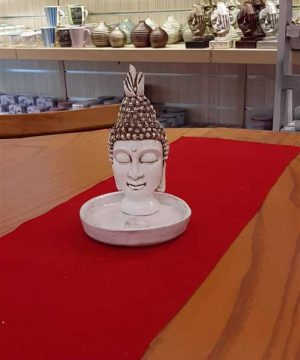 عودسوز بودا با پیاله سفید کوچک