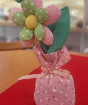 گلدان پارچه ای گل بزرگ