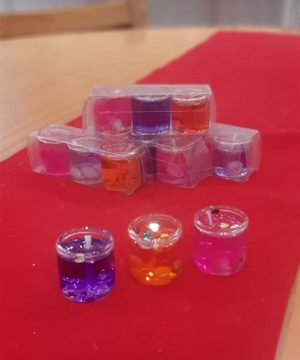 شمع ژله ای رنگی 3تایی کوچک