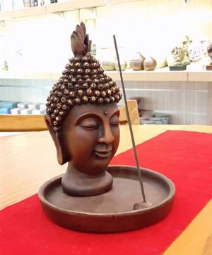 عودسوز بودا با پیاله قهوه ای کوچک