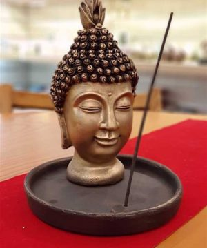 عودسوز بودا با پیاله طلایی کوچک