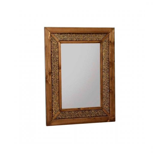 آینه 60 * 80 گل نقش طلایی