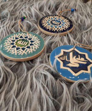 کاشی گرد مذهبی قطر 7.5