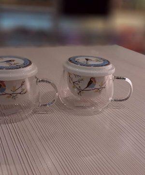 لیوان های دمنوش سرامیک شیشه ای