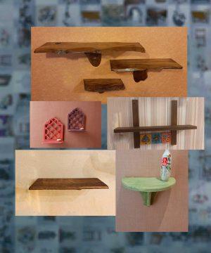 طاقچه و طبقه های دیواری