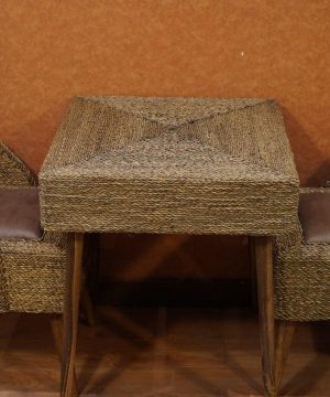 میز مربع 2 نفره حصیر بافت