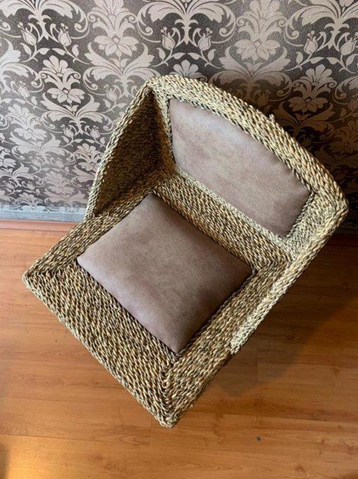 صندلی پشتی دار حصیربافت