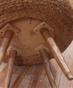 میز جلو مبلی قطر65 پایه کوتاه حصیری