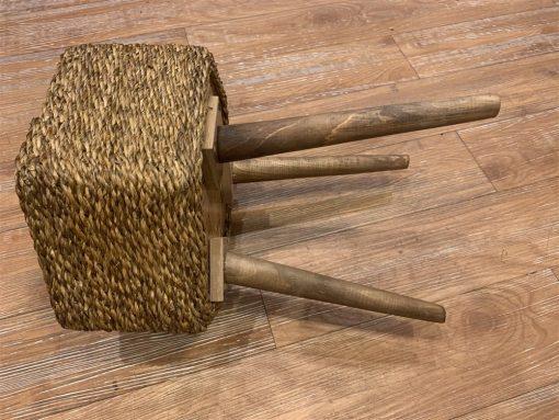 میز آباژور 45 سانت 6ضلعی حصیر بافت
