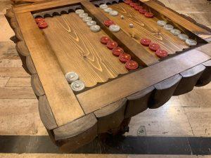 صفحه میز تخته نرد چوبی