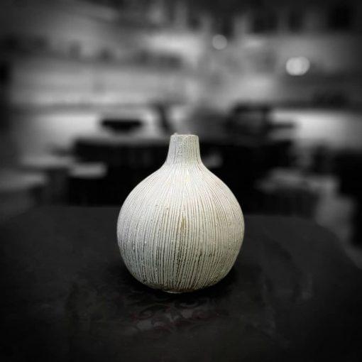 گلدان خمره ای 3 سایز سفید پتینه