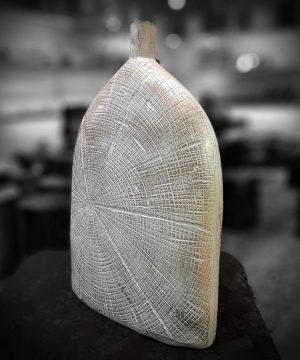 گلدان دارکوب کوچک سفيد پتينه