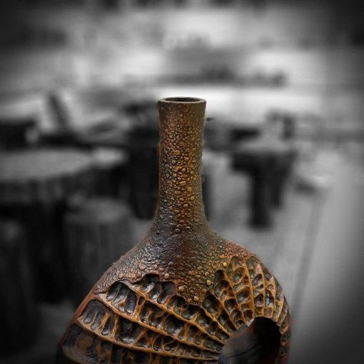 گلدان سنگی 3 قهوه ای