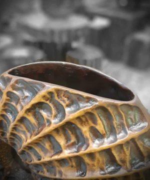 گلدان سنگی 4 قهوه ای
