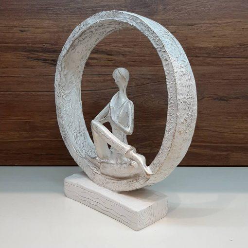مجسمه یوگا 4 سفید