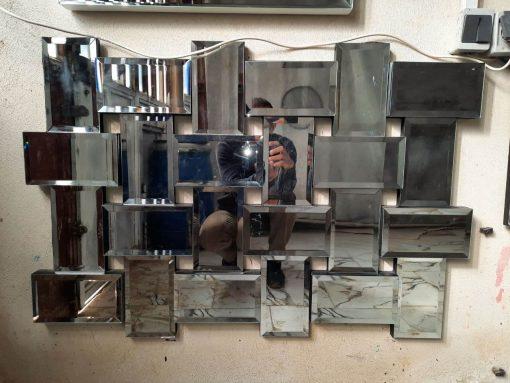 آینه دکوراتیو بافت ریز برجسته