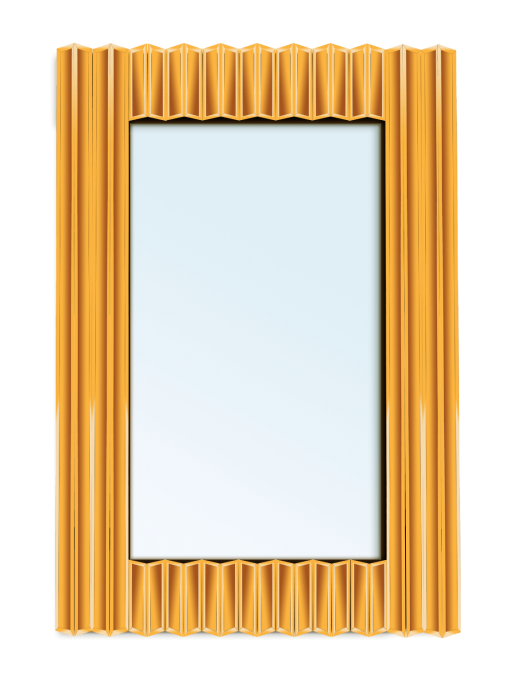 آینه دکوراتیو دندان اره ای