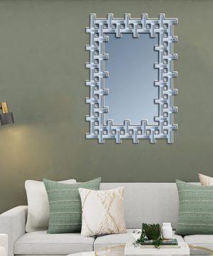 آینه دکوراتیو 8ضلعی دور مشبک
