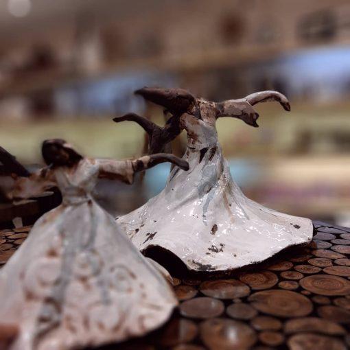 مجسمه رقص سما بزرگ سفال