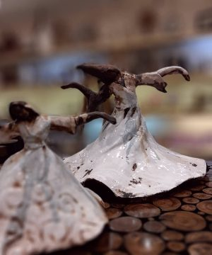 مجسمه رقص سما کوچیک سفال