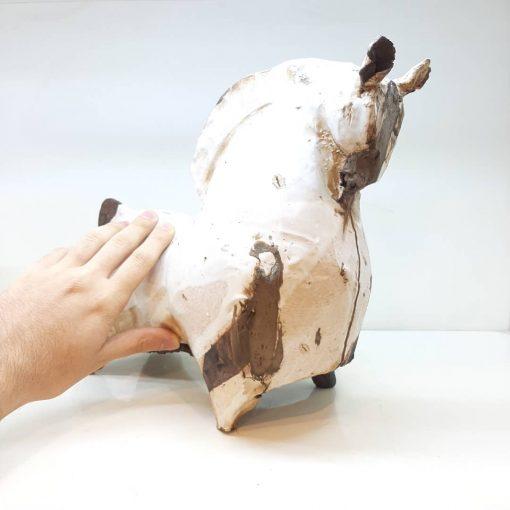 مجسمه اسب کوچک سفالی